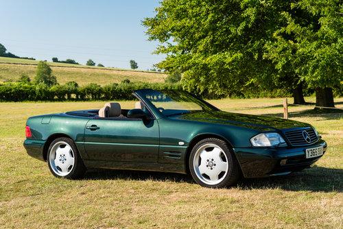 2001 Mercedes Benz SL320 Designo in Allanite Green For Sale (picture 4 of 6)
