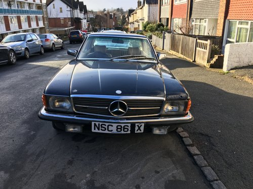 """Barn find"" Mercedes 380 SLC 1982 Auto  SOLD (picture 2 of 6)"