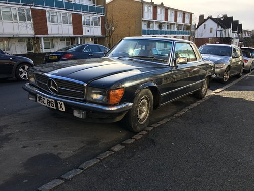 """Barn find"" Mercedes 380 SLC 1982 Auto  SOLD (picture 3 of 6)"