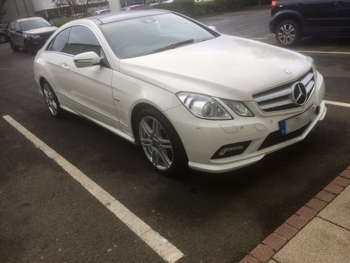 2009 Mercedes Benz E class coupe 350 cdi auto For Sale (picture 1 of 6)