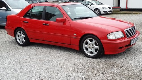 1998 MERCEDES C CLASS C180 ESPIRIT STUNNING BRIGHT RED For Sale (picture 1 of 6)