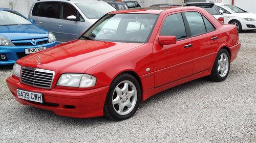 1998 MERCEDES C CLASS C180 ESPIRIT STUNNING BRIGHT RED For Sale (picture 2 of 6)