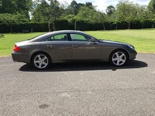2006 Indium Grey Mercedes CLS 500 4dr Coupe For Sale (picture 1 of 6)
