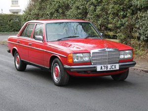 1983 Mercedes Benz 230E - 1 Owner from new,  full history