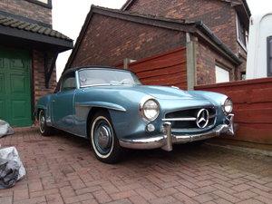 Mercedes benz 1956 190sl light blue metalic For Sale