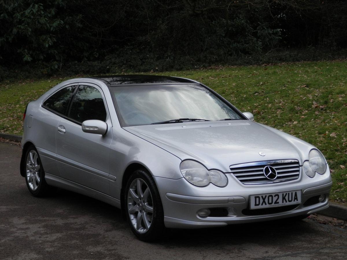 2002 Mercedes C200 Kompressor Evolution.. Low Miles.. Hi Spec.. SOLD (picture 1 of 6)