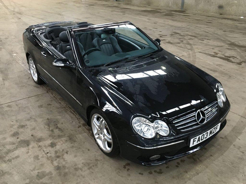2003 Mercedes CLK 55 AMG Auto For Sale by Auction 23rd February SOLD by Auction (picture 1 of 6)