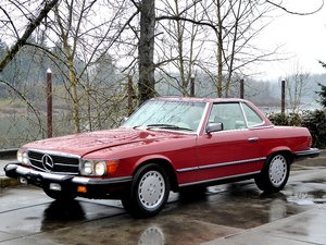 1976 Mercedes 450SL Roadster = Clean Red 142k miles $7.9k For Sale