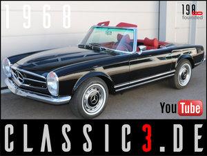 1968 MERCEDES-BENZ 280SL PAGODA W113 MATCHING ORIG.040-BLACK For Sale