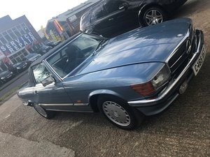 1986 Restored Ice Blue 500SL