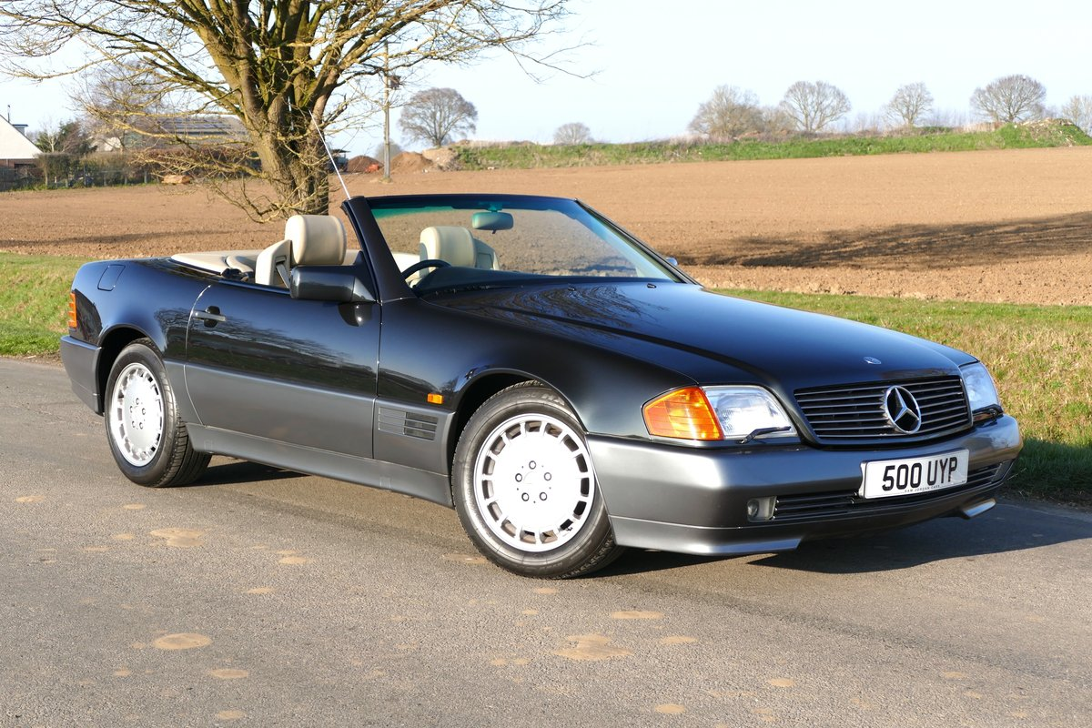 1991 (H) Mercedes 500SL-32 Automatic with just 45,494 miles For Sale (picture 1 of 6)