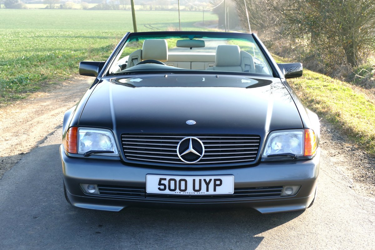 1991 (H) Mercedes 500SL-32 Automatic with just 45,494 miles For Sale (picture 2 of 6)