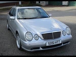 2002 Mercedes E55 AMG , two owners 79,000 FSH For Sale by Auction