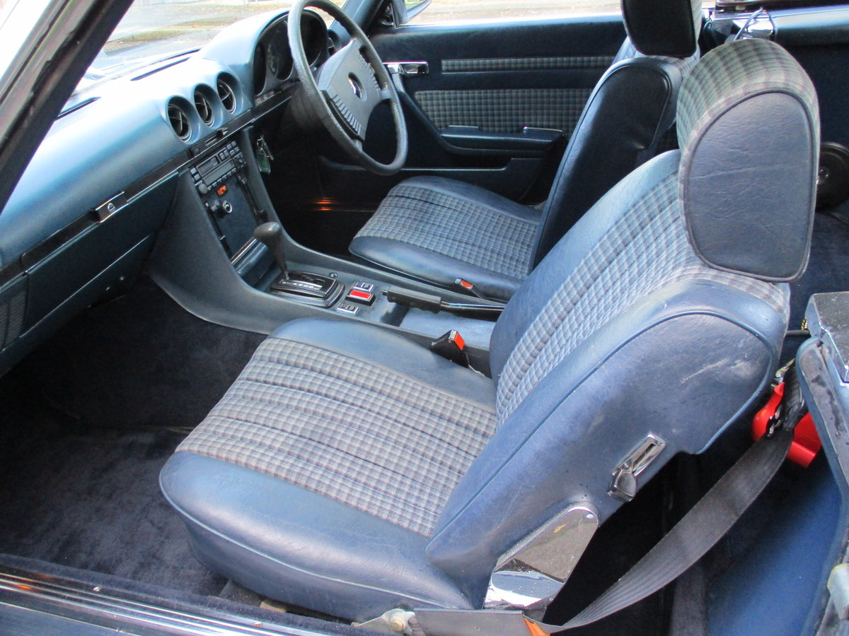 MERCEDES 350 SL AUTO 1977 STUNNING LOW MILEAGE H & S TOPS For Sale (picture 7 of 10)