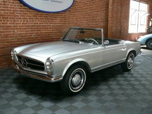 1966 Mercedes Benz 230SL = Manual 2 Tops 9.8k miles $64.5k For Sale