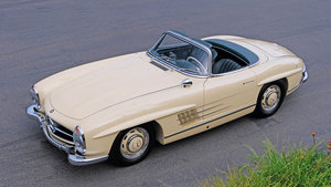 1955 Mercedes Benz 300SL Roadster = Correct Ivory POR For Sale