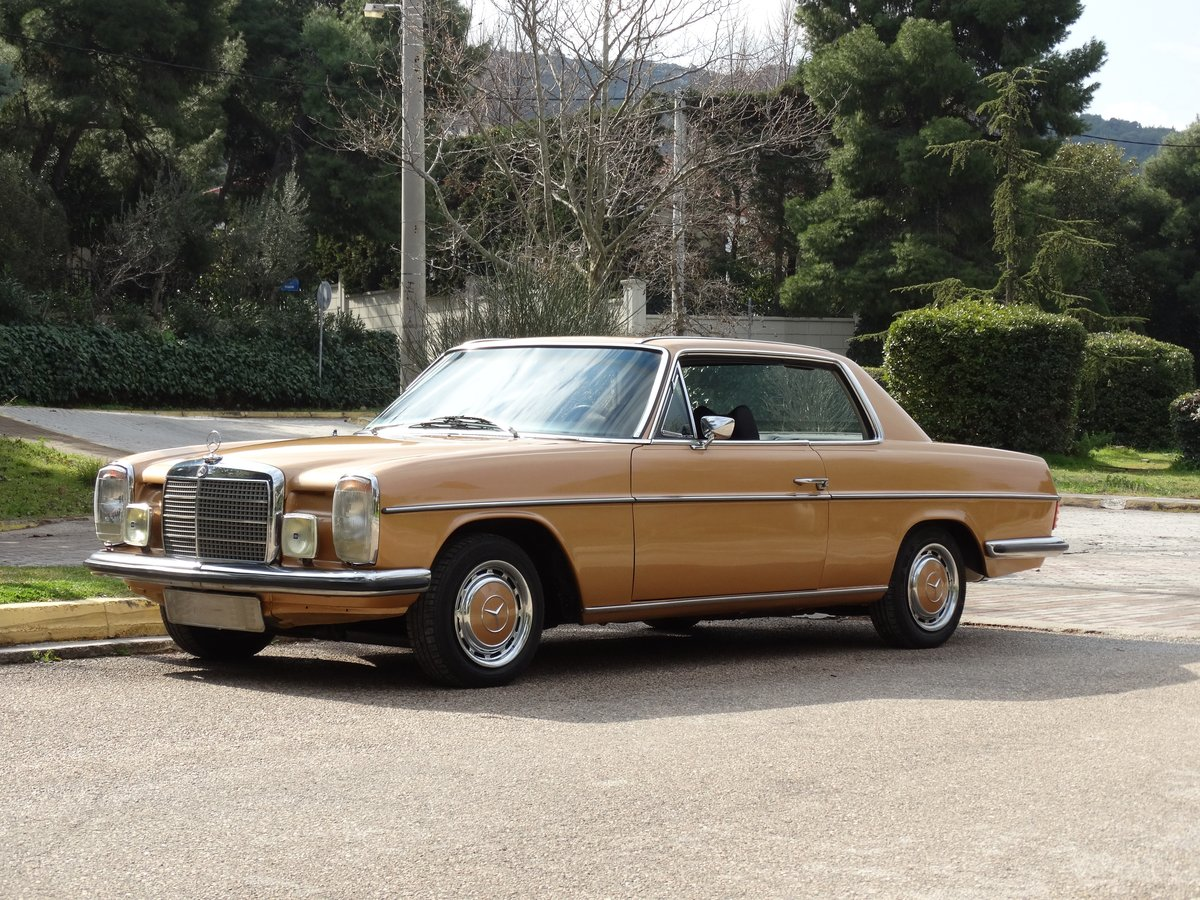 1973 Mercedes-Benz 250 C 2.8, Byzantine Gold Metallic For Sale (picture 1 of 6)