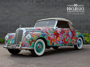 MERCEDES BENZ 220 CABRIOLET ART CAR For Sale