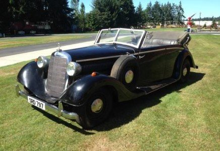 1937 Indiana Jones Mercedes-Benz 320 Staff Movie Car $275k For Sale (picture 1 of 6)