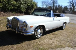 1966 Mercedes Benz 250 SE Convertible = Ivory(~)Navy $105.9k For Sale
