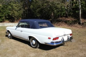 1966 Mercedes Benz 250 SE Convertible = Ivory(~)Navy $105.9k For Sale (picture 2 of 6)
