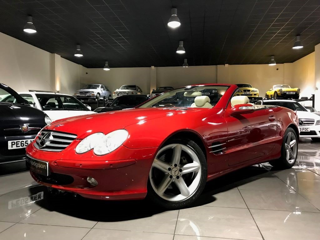 2005 Mercedes SL SL500 PANORAMIC ROOF MARS RED CREAM LEATHER For Sale (picture 1 of 6)