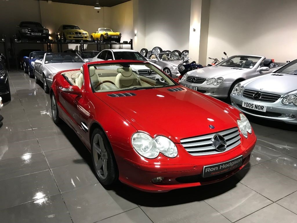 2005 Mercedes SL SL500 PANORAMIC ROOF MARS RED CREAM LEATHER For Sale (picture 3 of 6)