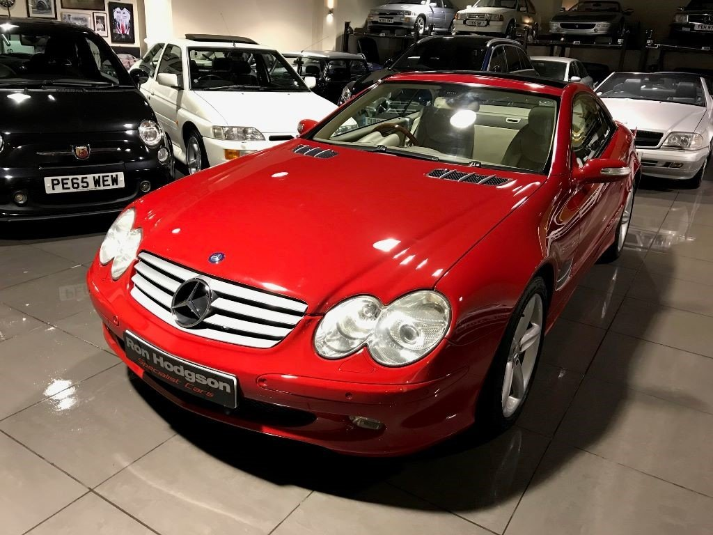 2005 Mercedes SL SL500 PANORAMIC ROOF MARS RED CREAM LEATHER For Sale (picture 6 of 6)