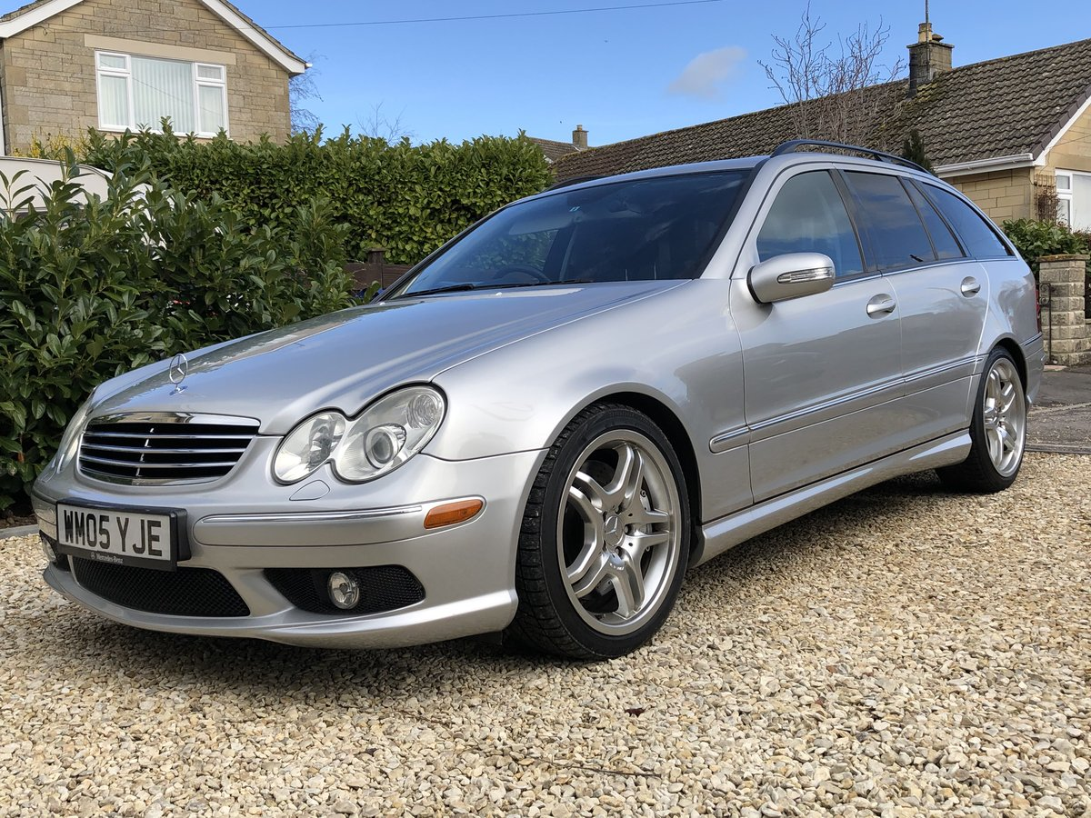 2005 Mercedes C55 AMG Estate Immaculate and rust free For Sale (picture 1 of 6)