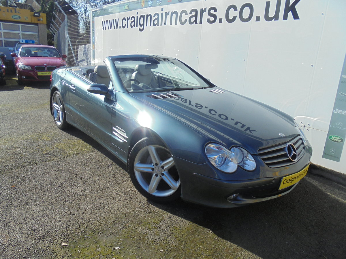 2004 MERCEDES SL350 Convertible 49000 Miles Panoramic Roof FSH For Sale (picture 1 of 6)