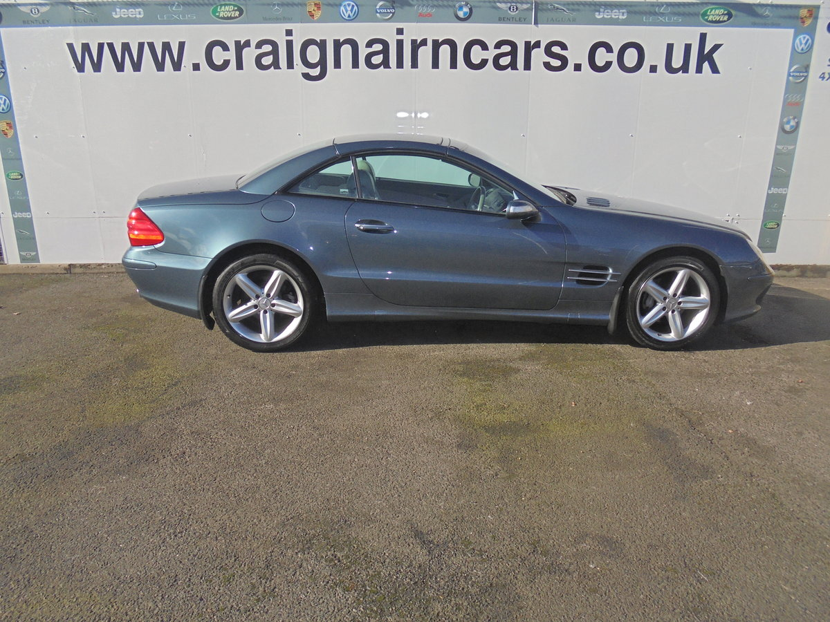 2004 MERCEDES SL350 Convertible 49000 Miles Panoramic Roof FSH For Sale (picture 3 of 6)