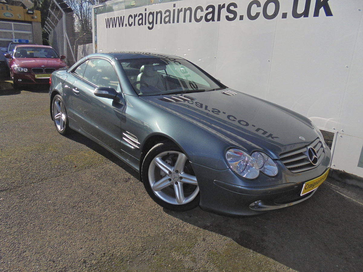 2004 MERCEDES SL350 Convertible 49000 Miles Panoramic Roof FSH For Sale (picture 5 of 6)