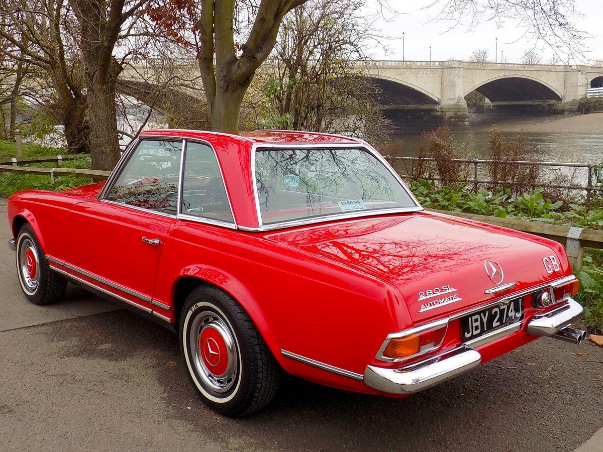 1970 MERCEDES 280SL PAGODA SPORTS - ORIGINAL UK RHD CAR SOLD (picture 4 of 6)