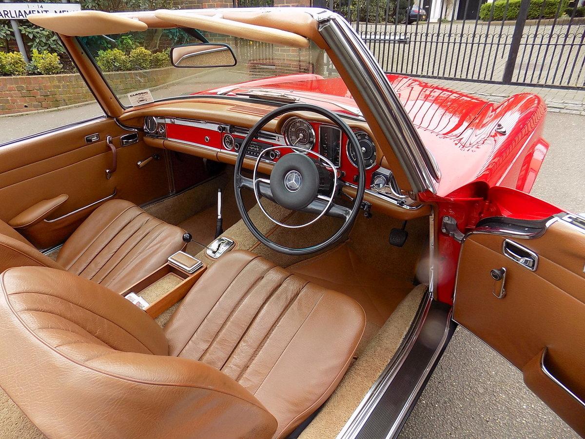 1970 MERCEDES 280SL PAGODA SPORTS - ORIGINAL UK RHD CAR SOLD (picture 5 of 6)
