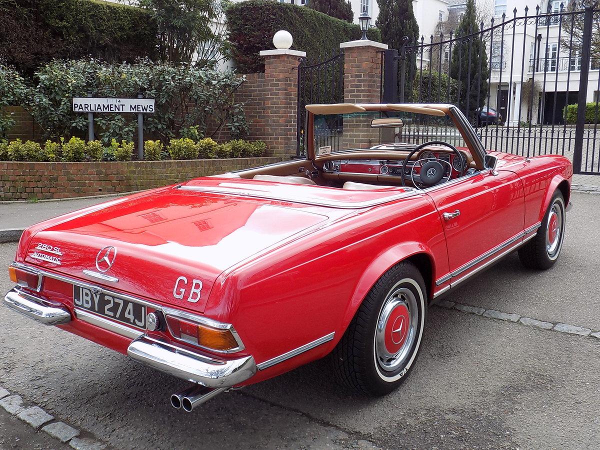 1970 MERCEDES 280SL PAGODA SPORTS - ORIGINAL UK RHD CAR SOLD (picture 6 of 6)