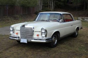 1963 Mercedes 220 SE Coupe = Rare 4 speed Ivory $49.9k For Sale (picture 2 of 6)
