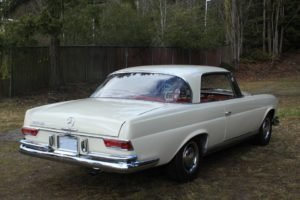 1963 Mercedes 220 SE Coupe = Rare 4 speed Ivory $49.9k For Sale (picture 4 of 6)