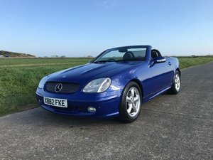 2000 Mercedes SLK320 R170 Linarite Blue Walnut Leather For Sale