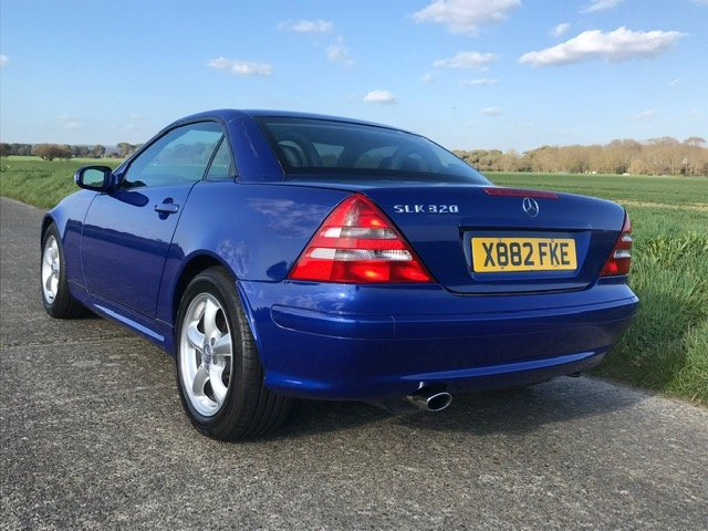 2000 Mercedes SLK320 R170 Linarite Blue Walnut Leather For Sale (picture 2 of 6)