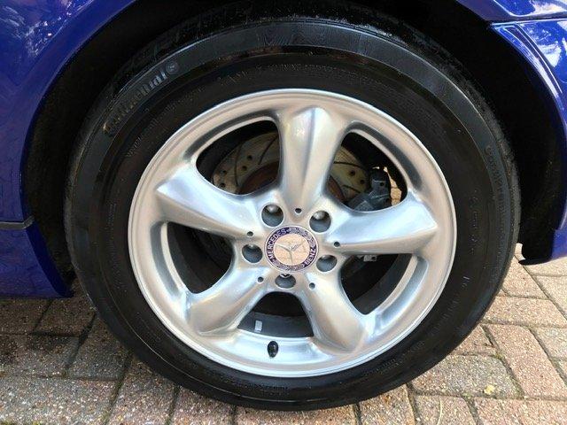 2000 Mercedes SLK320 R170 Lindarite Blue Walnut Leather For Sale (picture 4 of 6)