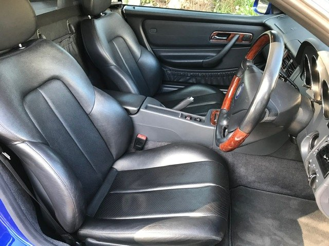 2000 Mercedes SLK320 R170 Linarite Blue Walnut Leather For Sale (picture 6 of 6)
