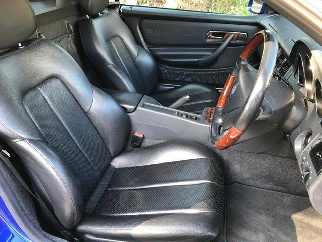 2000 Mercedes SLK320 R170 Lindarite Blue Walnut Leather For Sale (picture 6 of 6)
