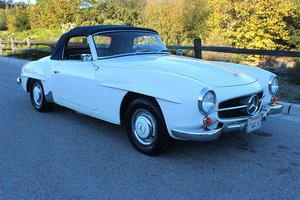 1960 Mercedes 190 SL = Clean and solid dry Ivory(~)Navy $89.5k For Sale