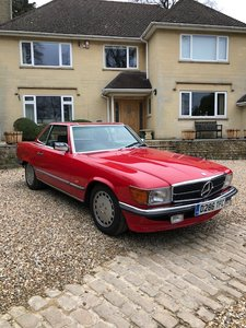 Beautiful condition 1987 300 SL in Signal Red