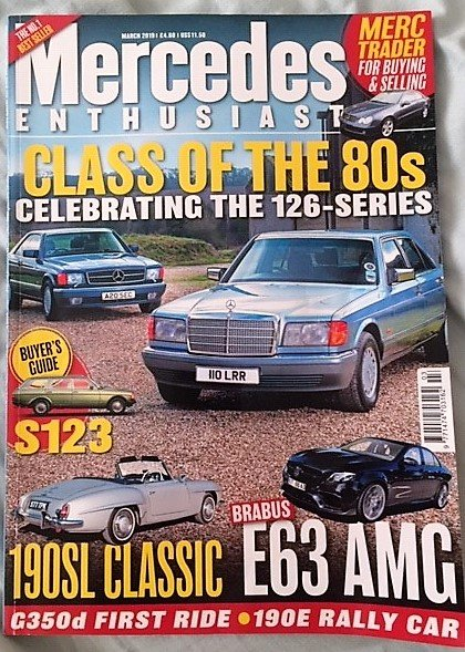 1990 Mercedes-Benz 420SEC as featured in MB Enthusiast magazine SOLD (picture 2 of 6)