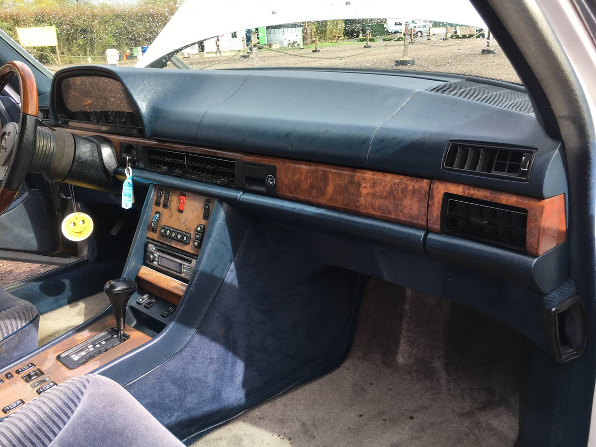 1988 Mercedes 560 SEL LHD rust free car 150HD pics For Sale (picture 4 of 6)