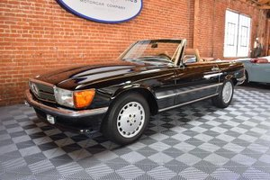 1989 Mercede 560SL = Roadster 2 Tops 23k miles Black $69.5k For Sale