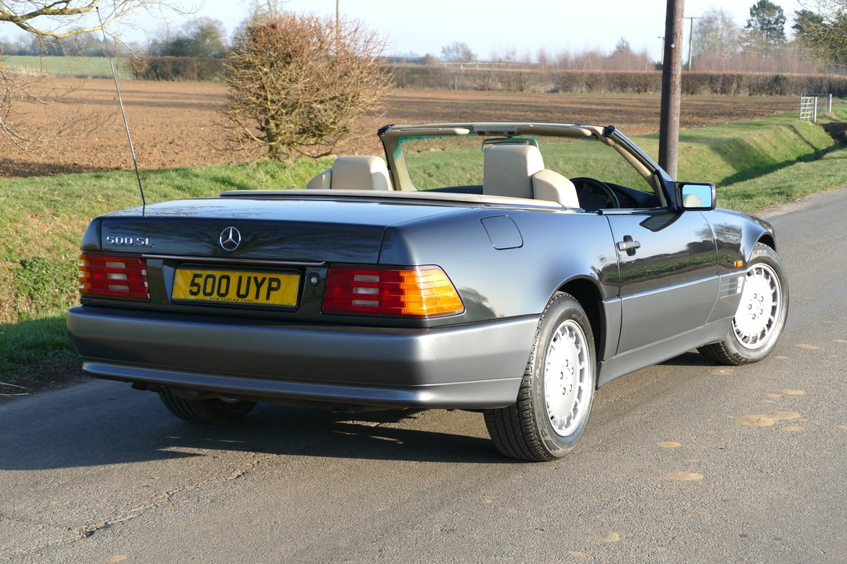 1991 H MERCEDES 500SL ORIGINAL UK CAR WITH JUST 45,000 MILES For Sale (picture 2 of 6)