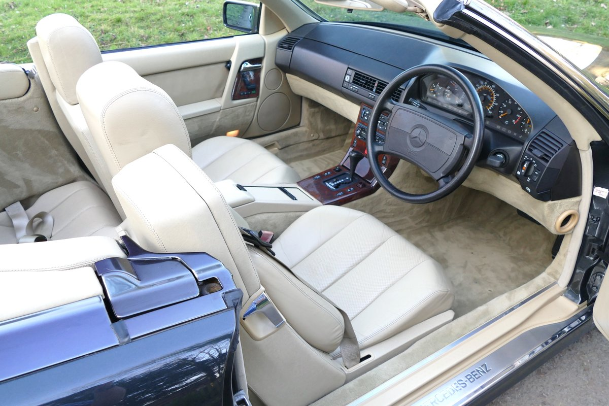 1991 H MERCEDES 500SL ORIGINAL UK CAR WITH JUST 45,000 MILES For Sale (picture 4 of 6)