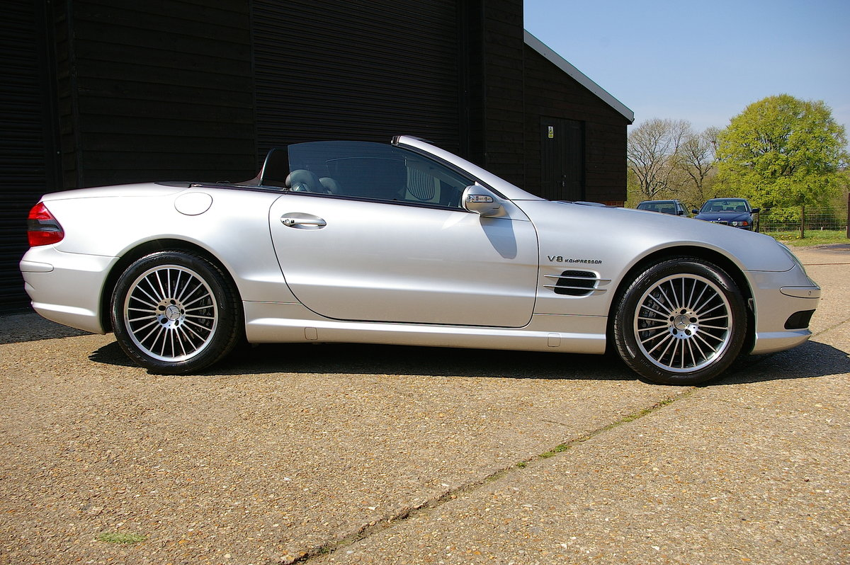 2003 Mercedes Benz SL55 AMG 5.5 V8 Kompressor Auto (55,301 miles) For Sale (picture 2 of 6)